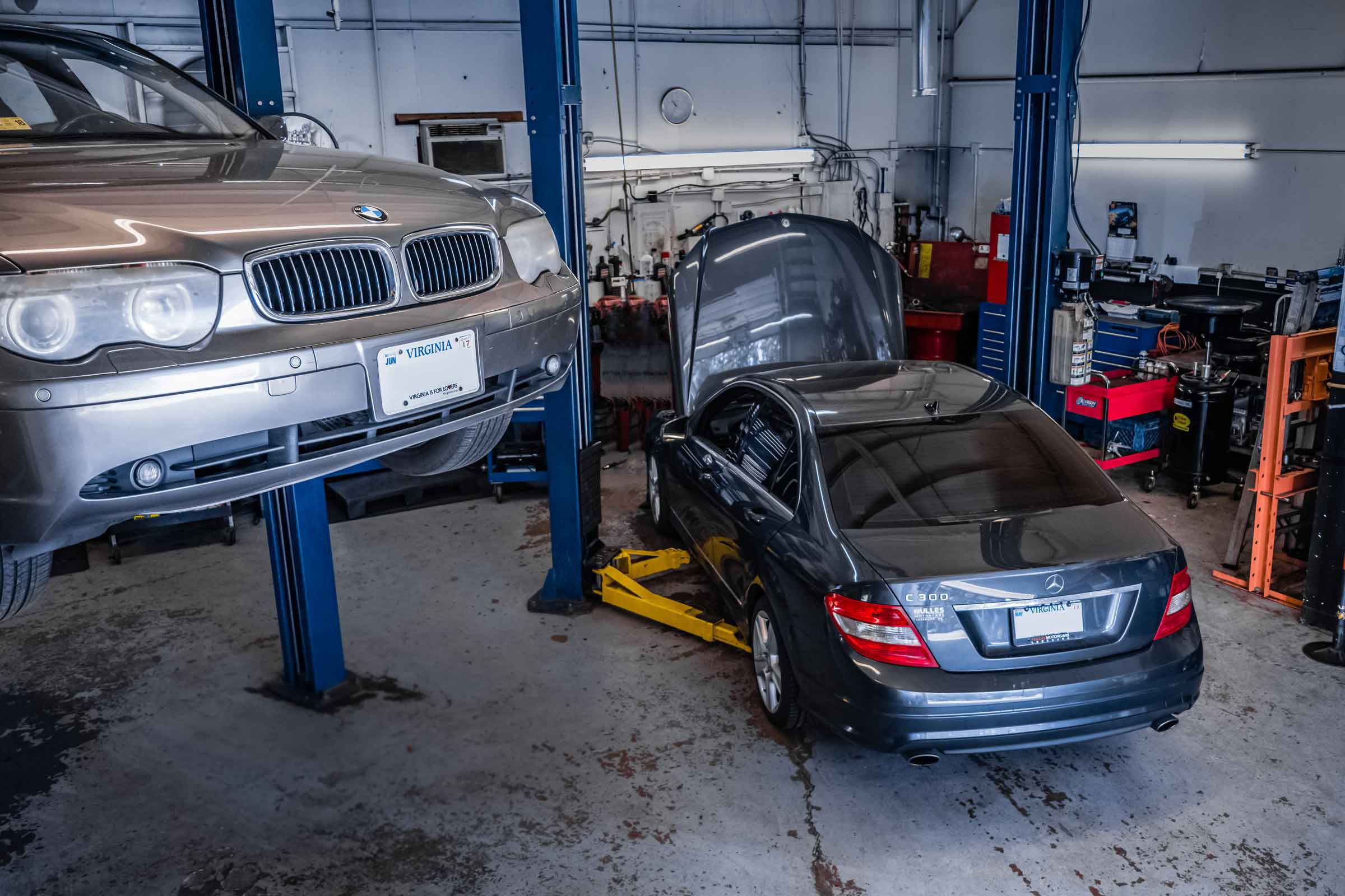 We specialize in BMW and Mercedes Benz services and auto repair.
